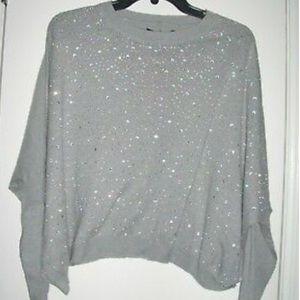 Gianni Bini Gray Oversized Boxy Sweater